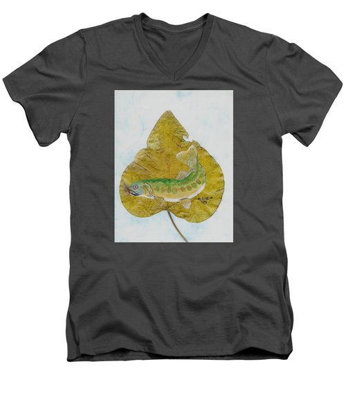 Golden Trout Men's V-Neck T-Shirt by Ralph Root