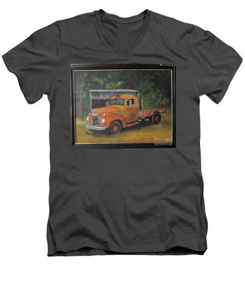 Golden Truck  Men's V-Neck T-Shirt