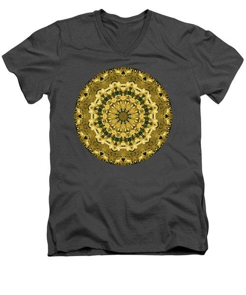 Goldenrod Mandala -  Men's V-Neck T-Shirt