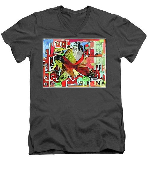 Goldfish #2 Men's V-Neck T-Shirt