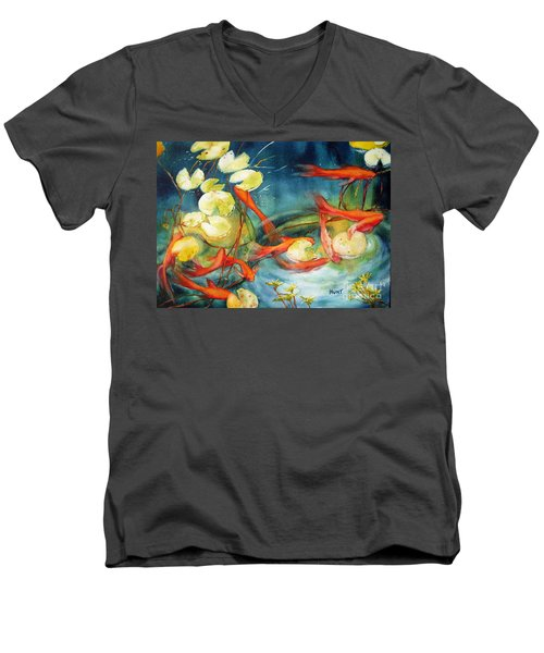 Goldfish Pond Men's V-Neck T-Shirt