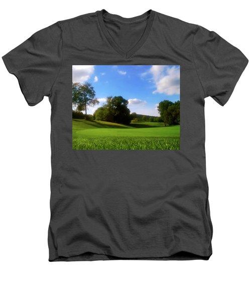Golf Course Landscape Men's V-Neck T-Shirt