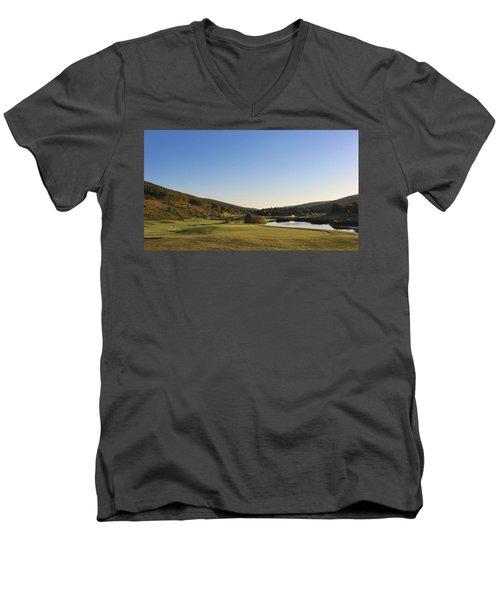 Golf - Natural Curves Men's V-Neck T-Shirt