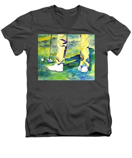 Golf Series - High Hopes Men's V-Neck T-Shirt by Betty M M Wong