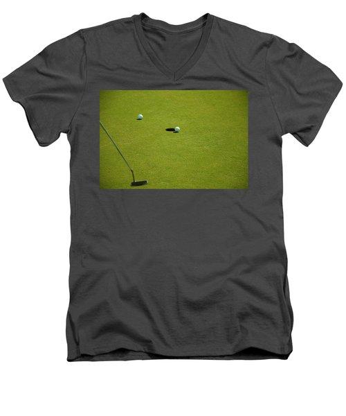 Golf - The Longest Inch Men's V-Neck T-Shirt by Chris Flees