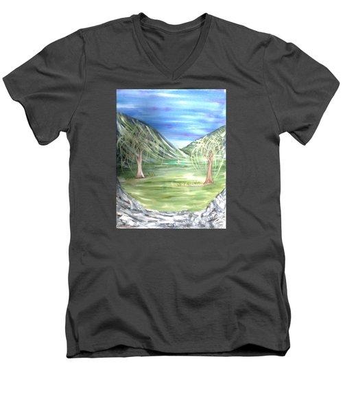 Golfing In Glacier Men's V-Neck T-Shirt