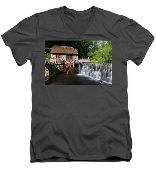 Gomez Mill In Spring #1 Men's V-Neck T-Shirt by Jeff Severson
