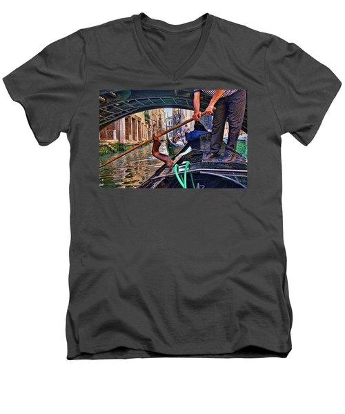 Men's V-Neck T-Shirt featuring the photograph Gondola 2 by Allen Beatty