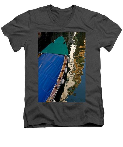 Gondola Reflection Men's V-Neck T-Shirt by Harry Spitz