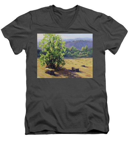 Good Day's Work Men's V-Neck T-Shirt by Karen Ilari
