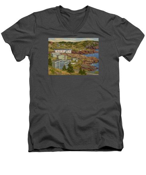 Good Dry Day Men's V-Neck T-Shirt by Jane Thorpe