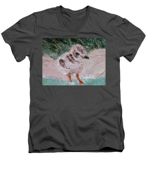 Good Harbor Piping Plover Chick #1 Men's V-Neck T-Shirt