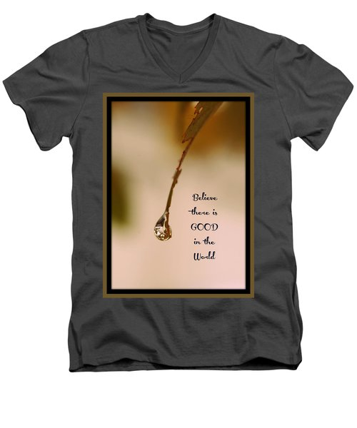 Good In The World Men's V-Neck T-Shirt by Trish Tritz