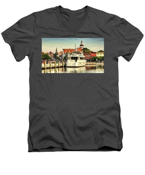 Good Morning Annapolis Men's V-Neck T-Shirt