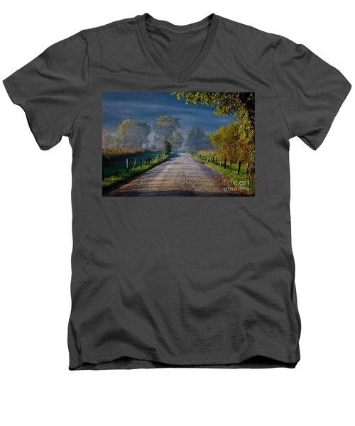 Good Morning Cades Cove 3 Men's V-Neck T-Shirt