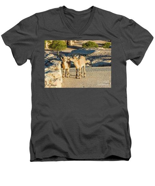 Good Morning Kiss Men's V-Neck T-Shirt