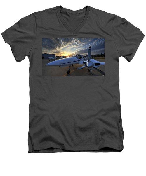 Good Morning On The Ramp Men's V-Neck T-Shirt