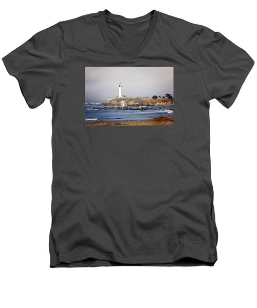 Good Morning Pigeon Point Men's V-Neck T-Shirt