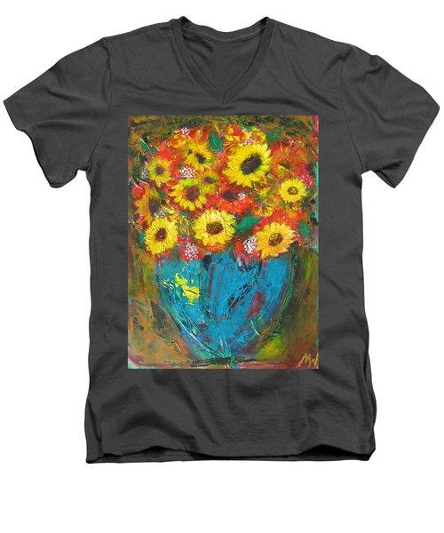 Good Morning Sunshine Men's V-Neck T-Shirt by Maria Watt