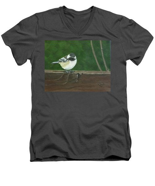 Men's V-Neck T-Shirt featuring the painting Good Morning by Wendy Shoults