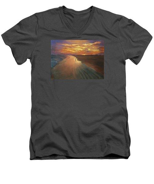 Good Night Men's V-Neck T-Shirt by Alla Parsons