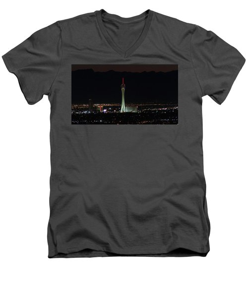 Men's V-Neck T-Shirt featuring the photograph Good Night by Michael Rogers
