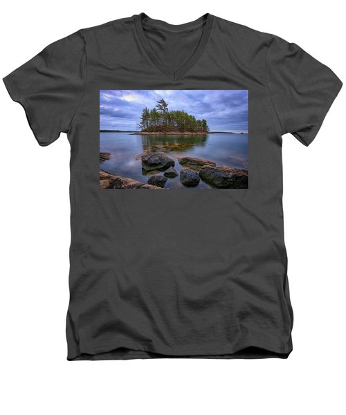 Men's V-Neck T-Shirt featuring the photograph Googins Island by Rick Berk