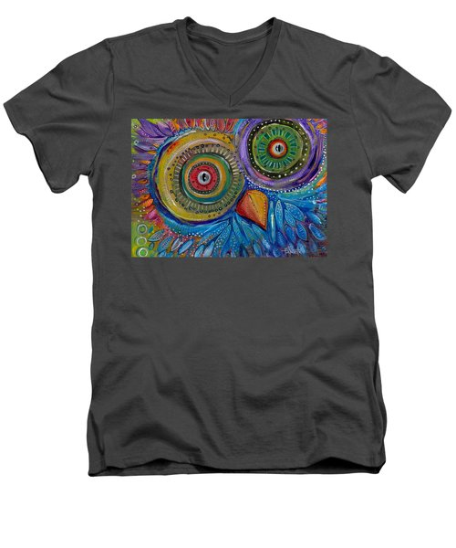 Googly-eyed Owl Men's V-Neck T-Shirt