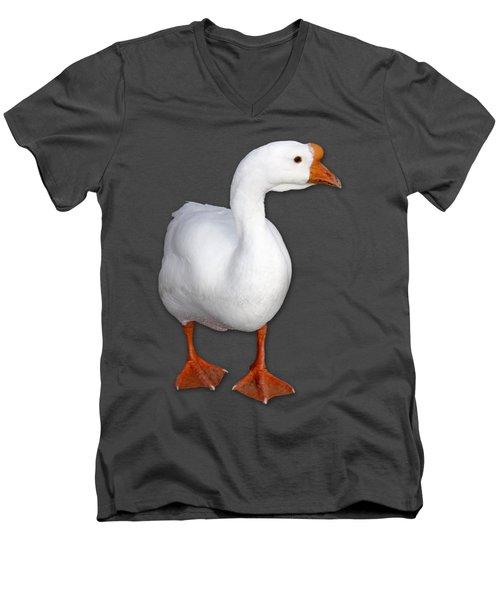 Goose Me Men's V-Neck T-Shirt by Bob Slitzan