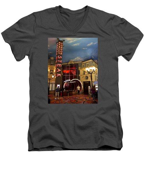 Gordon Ramsay Steak Men's V-Neck T-Shirt