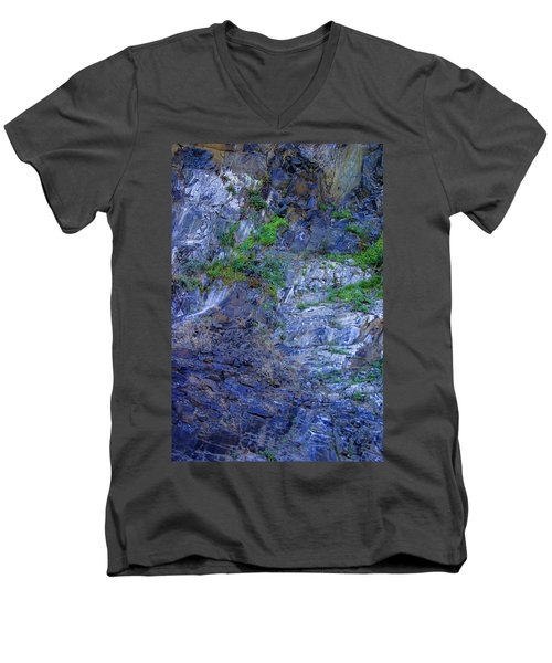 Men's V-Neck T-Shirt featuring the photograph Gorge-2 by Dale Stillman