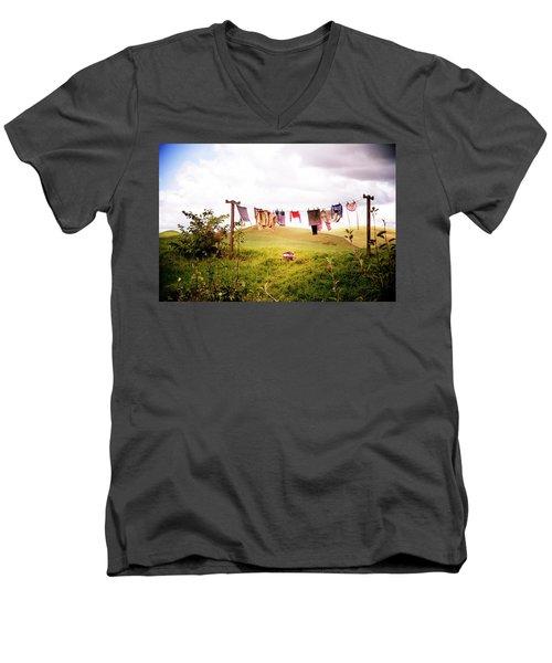 Gorgeous Sunny Day For Hobbits Men's V-Neck T-Shirt