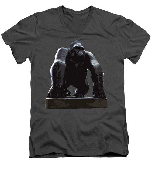 Gorilla Art Men's V-Neck T-Shirt