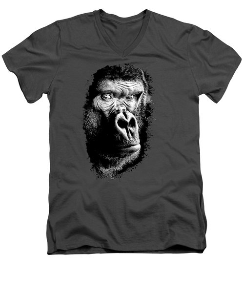 Gorilla Canvas Print, Photographic Print, Art Print, Framed Print, Greeting Card, Iphone Case, Men's V-Neck T-Shirt