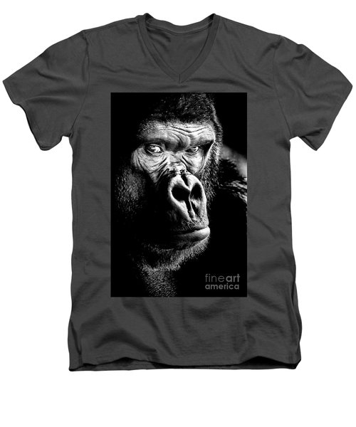 Gorilla Men's V-Neck T-Shirt