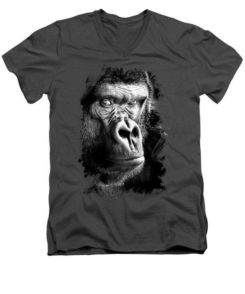Gorilla T-shirt Men's V-Neck T-Shirt