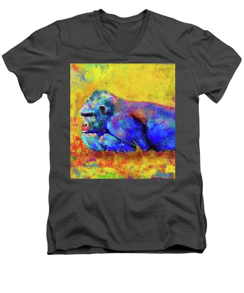 Gorilla Men's V-Neck T-Shirt by Test