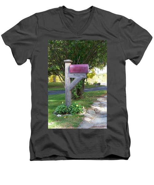 Men's V-Neck T-Shirt featuring the digital art Got Mail by Barbara S Nickerson