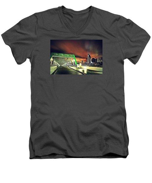 Gotham Calling Men's V-Neck T-Shirt by Matt Helm