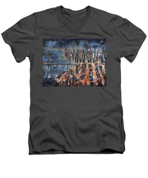 Gotham City II Men's V-Neck T-Shirt