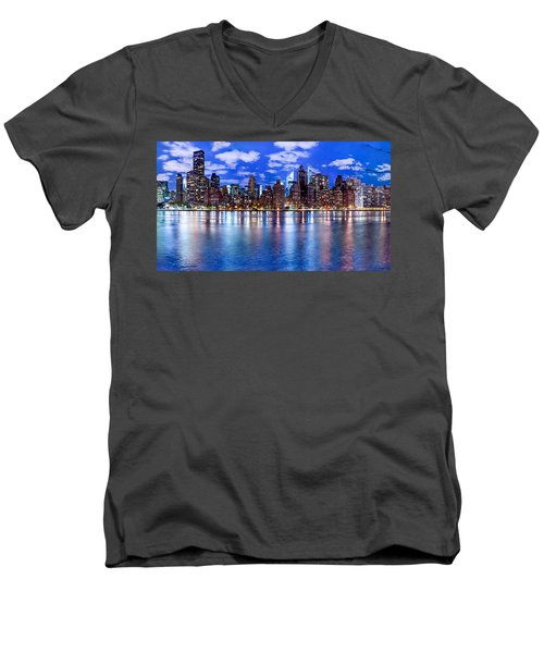 Gothem Men's V-Neck T-Shirt by Az Jackson