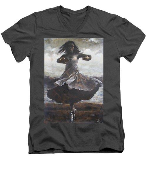 Grace And Movement Men's V-Neck T-Shirt by Vali Irina Ciobanu