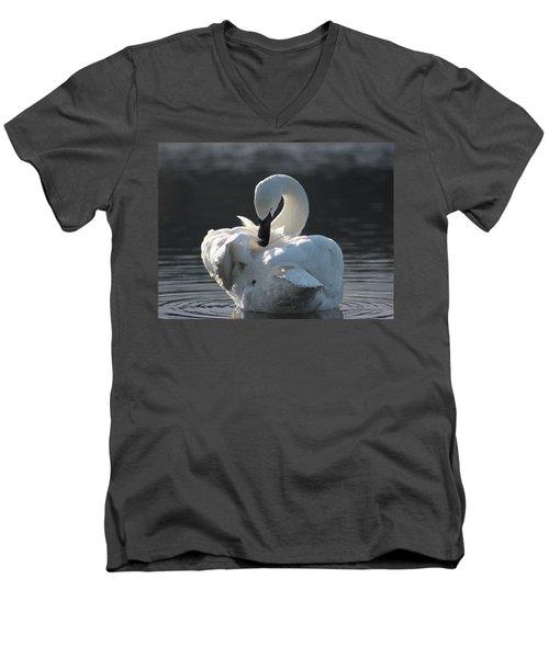 Men's V-Neck T-Shirt featuring the photograph Grace by Cathie Douglas