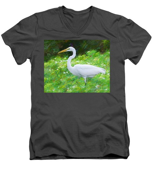 Grace In Nature Men's V-Neck T-Shirt by Judy Kay