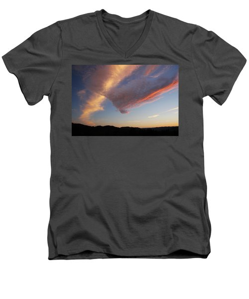 Graceful Pink Clouds Men's V-Neck T-Shirt by Katie Wing Vigil