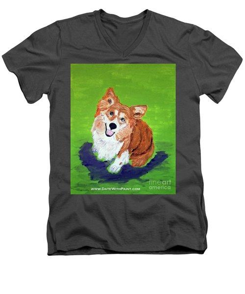 Gracie_dwp_may_2017 Men's V-Neck T-Shirt