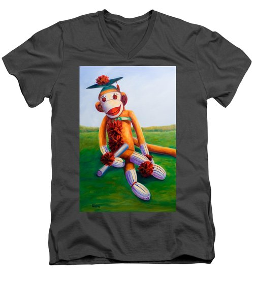 Graduate Made Of Sockies Men's V-Neck T-Shirt