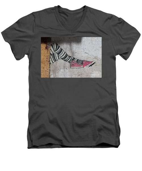 Men's V-Neck T-Shirt featuring the photograph Graffiti by Lynn England