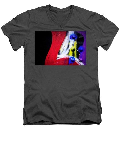 Graffiti On Iron Men's V-Neck T-Shirt