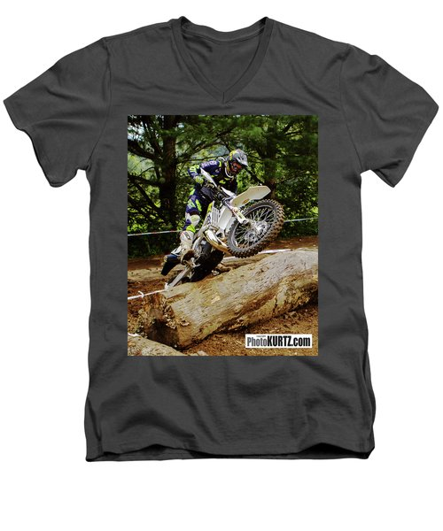 Graham Jarvis At 2017 Kenda Tennessee Knockout Enduro Men's V-Neck T-Shirt